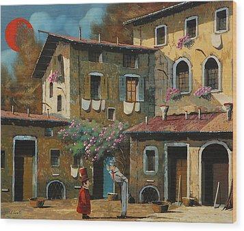 Il Notaio E Il Marinaio Wood Print by Guido Borelli