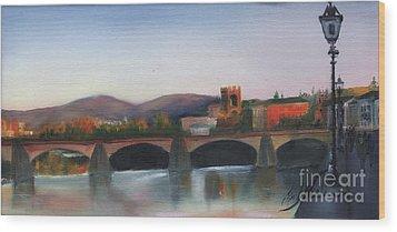Il Ponte Santa Trinita Wood Print by Leah Wiedemer