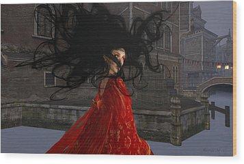 Il Vampiro Contessa Di Venezia Wood Print by Amanda Holmes Tzafrir
