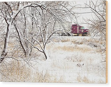 I'll Be Home For Christmas Wood Print by Theresa Tahara