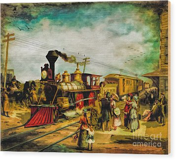 Illinois Central Railroad 1882 Wood Print by Lianne Schneider