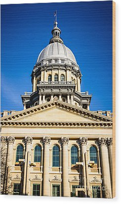 Illinois State Capitol In Springfield Wood Print by Paul Velgos
