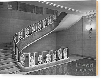 Illinois State University Williams Hall Stairway Wood Print by University Icons
