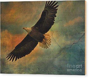 Illumination Of Spirit Wood Print by Deborah Benoit