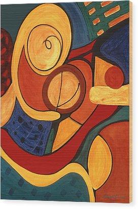 Illuminatus 3 Wood Print by Stephen Lucas