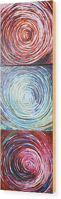 Illusions Wood Print by Monica Veraguth