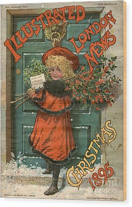 Illustrated London News 1890s Uk Holly Wood Print by The Advertising Archives