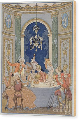 Illustration From 'les Liaisons Dangereuses'  Wood Print by Georges Barbier