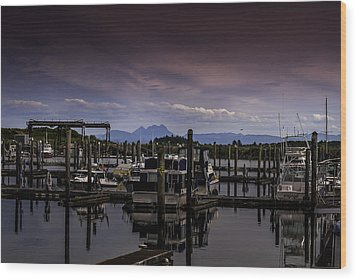 Ilwaco Wood Print by Jean-Jacques Thebault