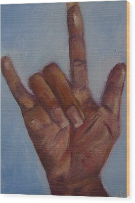 Ily Hand Study Wood Print by Jessmyne Stephenson