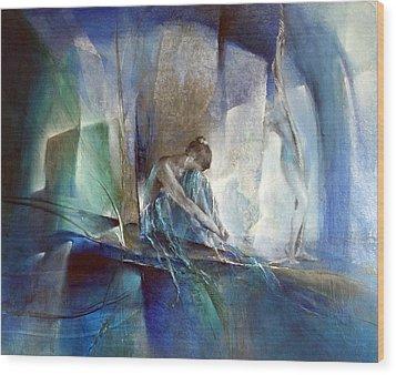 Im Blauen Raum Wood Print