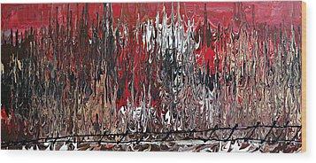 Im Going Up The Rails Wood Print by Cyryn Fyrcyd