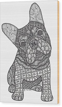 I'm Listening - French Bulldog Wood Print