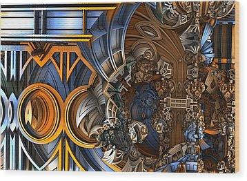 Im Really Confused Wood Print by Ricky Jarnagin