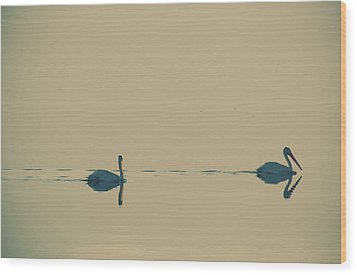 I'm Sailing Right Behind Wood Print by Laurie Search