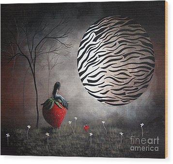 I'm Your Huckleberry By Shawna Erback Wood Print by Shawna Erback