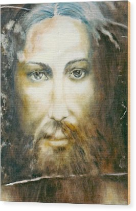 Image Of Christ Wood Print by Henryk Gorecki