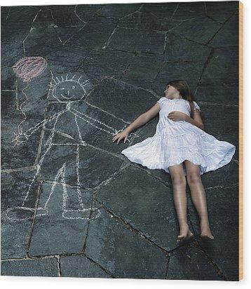 Imaginary Friend Wood Print by Joana Kruse