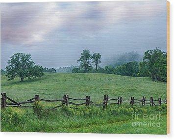 Imaginary Morning On The Blue Ridge I Wood Print by Dan Carmichael