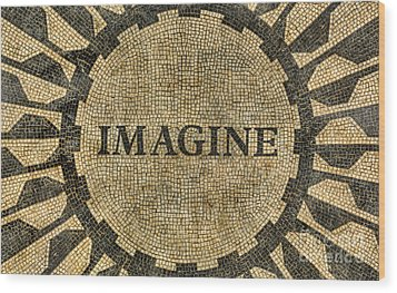 Wood Print featuring the photograph Imagine - John Lennon by Lee Dos Santos