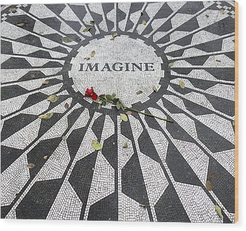 Imagine Mosaic Wood Print by Mike McGlothlen