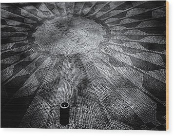Wood Print featuring the photograph Imagine - Strawberry Fields by James Howe