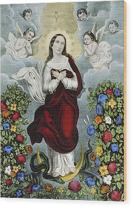 Immaculate Conception Circa 1856  Wood Print by Aged Pixel