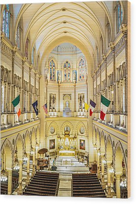 Immaculate Conception Jesuit Church - New Orleans Wood Print by Andy Crawford