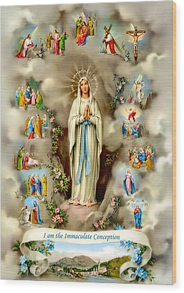 Immaculate Conception Wood Print