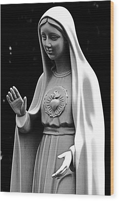 Immaculate Heart Of Mary Wood Print
