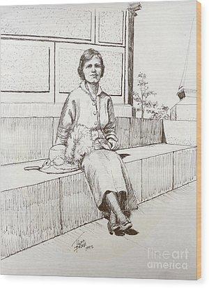Immigrant 1920s Wood Print