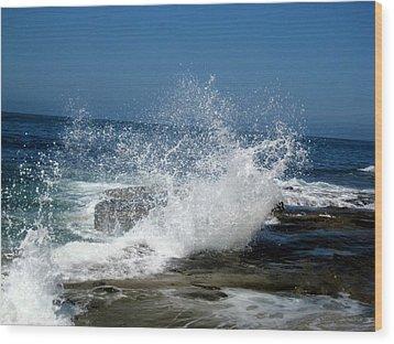 Impact Of The Sea Wood Print