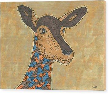 Impala Antelope Wood Print by Susie Weber