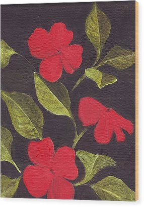 Impatiens Wood Print by Mary Adam