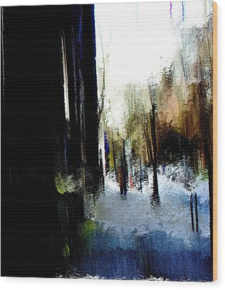 Wood Print featuring the mixed media Impending Gloom by Terence Morrissey