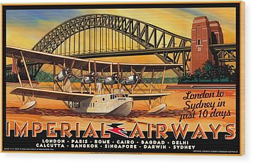 Imperial Airways 2 Wood Print by Clive Norton