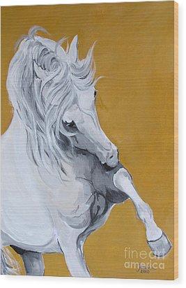 Imperial Baarez - Straight Egyptian Arabian Wood Print by Janina  Suuronen