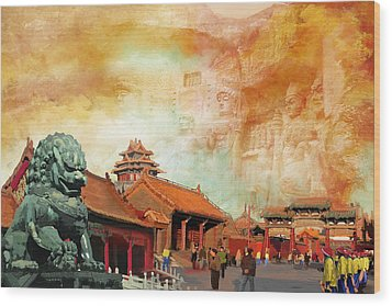 Imperial Palaces Of The Ming And Qing Dynasties In Beijing And Shenyang Wood Print by Catf
