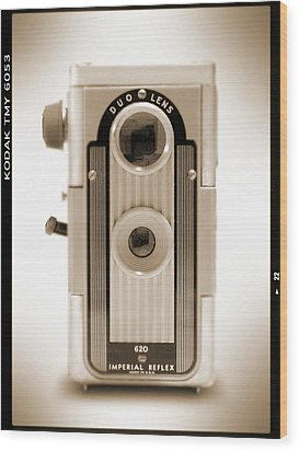 Imperial Reflex Camera Wood Print by Mike McGlothlen