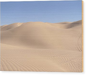 Imperial Sand Dunes Wood Print by Jewels Blake Hamrick