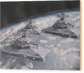 Imperial Star Ship Destroyers Wood Print by Vikram Singh