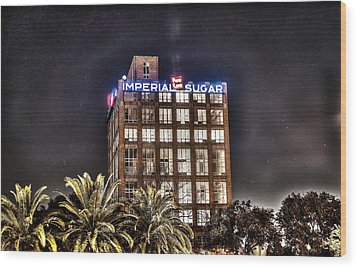 Imperial Sugar Mill Wood Print