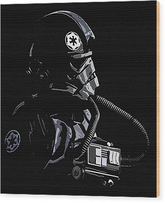 Imperial Tie  Pilot 2 Wood Print by Brian Stevens