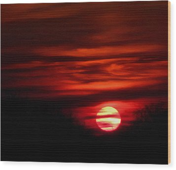 Impression Sunset Wood Print by Richard Cummings