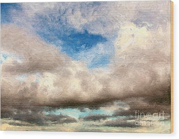Impressionist Landscape Paintings Wood Print by Boon Mee