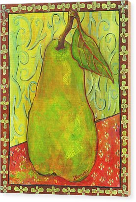 Impressionist Style Pear Wood Print by Blenda Studio