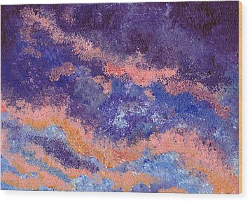 Impressionist Sunset Wood Print by Tricia Griffith