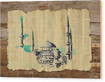 Impressionistic Masjid E Nabwi Wood Print by Catf