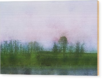 Impressionistic Style Of Trees Wood Print by Roberta Murray