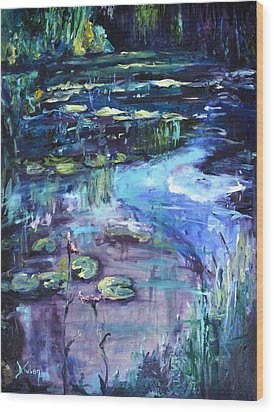Impressions Of Giverny Wood Print by Donna Tuten